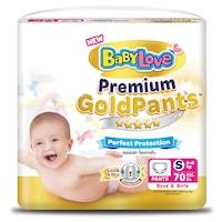 Baby Love Premium Gold Pants Baby Diaper Pants Size S 70pcs.