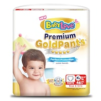 Baby Love Premium Gold Pants Baby Diaper Pants Size XL 46pcs.